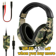 Gaming Headset Camo Stereo Headphone for NS PS4 Pro Xbox one Laptop 3.5mm