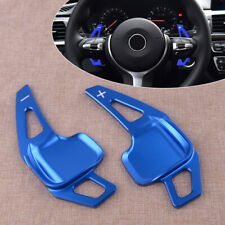 Blue Aluminum Steering Wheel Shift Extension Paddle Fit For BMW X1 X4 X5 X6 i8