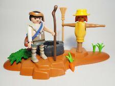 PLAYMOBIL Pastor con Espantapajaros, Scarecrow, Belén, Navidad, Dioramas, Custom