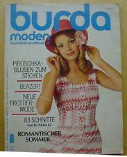 Burda Moden 06/71 MIEDER Hosenanzug Peggy Pants Faltenshorts häkeln strick70er J