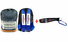 JDM Bride Racing Backpack with Racing Harness Shoulder Straps + Bride Key chain