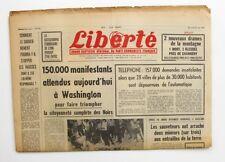 Liberté n°306 (305) - 1963 - Quotidien du parti Communiste - Di Stephano rapt
