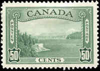 Mint H Canada 1938 VF Scott #244 VF 50c Pictorial Issue Stamp