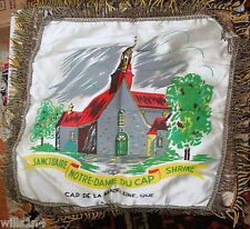 Sanctuaire Notre-Dame Du Cap Shrine, Quebec, Satin Pillow Cover mid-1900's