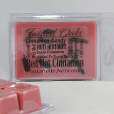 HOT! HOT! Red Hot Cinnamon! Wax Melts. Hand Poured 6pk. Twisted Oaks Wax Works.