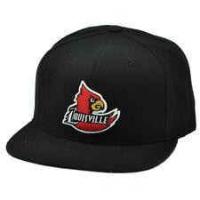 NCAA Starter Louisville Cardinals Black Snapback Hat Cap Flat Bill Sports Cards