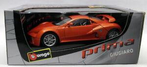 Burago 1/18 Scale Diecast - 33130 Giugiaro Design Prima Orange Model Car