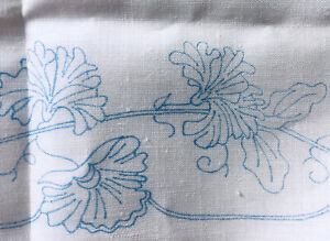 Pure Irish Linen Tablecloth to Embroider Transfer Printed and Ready to Start