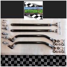 MAX CLEARANCE CHROMOLY 2017-18 RZR XP 1000 UPPER & LOWER RADIUS BARS RAW, 12 MM