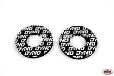 Flite Old School Dyno BMX Grip Donuts - Pairs - Black & White