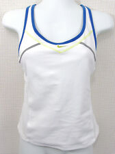 Nike Fit Dry Sports Tank Top Size XS White Shelf Bra Racerback Pocket Dri Fit
