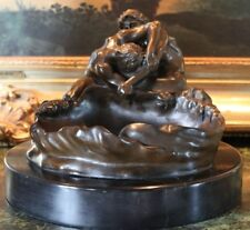 Gay Male Nude Figures Lovers Partners Bronze Marble Statue Sculpture Bowl Dish