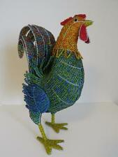Beadworx Glass Beads NWT Beaded Wire LARGE Rooster Elaborate LAST ONE