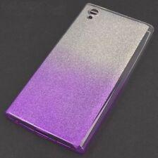^ Shine Case Glitzer Blink Schutz Ombre Handy Etui Schale Nokia 7 Plus Violett