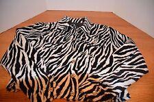 Dollhouse Outerwear Jacket/Coat Animal Print Size Small Black & White