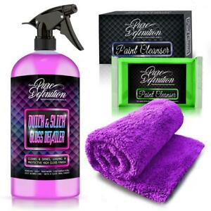 Clay Bar Edgeless Microfibre Detailer Kit Car Detailing Cleaning Pure Definition
