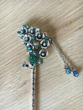 Peacock Flower Feather Tail Fashion Hair Stick Hair Accessory Or Bookmark