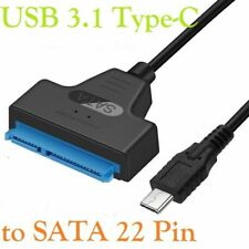 """Type C USB 3.1 to SATA 3.0 22Pin 2.5"""" Adapter Cable Lead for Hard Drive HDD SSD"""