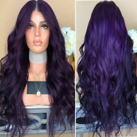 Long Curly Wavy Full Wigs Natural Synthetic Hair Ombre Brazilian Cosplay Party