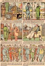 DESSIN HUMORISTIQUE LE RALLIC 1923 TRIBULATION LEBUREAU EN ESPAGNE DICTATEUR