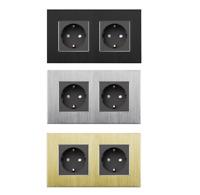 LIVOLO STECKDOSE 1 FACH mit Klemmen zur Installation Weiß Glas C7C1-11-A DIN VDE