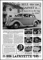 1935 Nash LaFayette 1936 car home driver kids automobile vintage print ad ads60