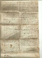 Granting of Power of Attorney Document and Deed for Acres of Land April 2, 1797