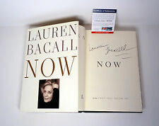 LAUREN BACALL SIGNED AUTOGRAPH NOW 1ST EDITION/1ST PRINTING HC BOOK PSA/DNA COA