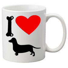 I Love Dachshaund Dogs on a Quality Mug. Great Novelty 11oz Mug.