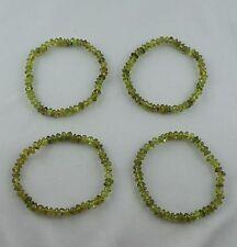 PERIDOT Armband ca 19 cm Stretcharmband 5 - 6 mm Button Perlen Edelstein