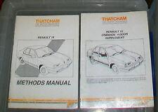 RENAULT 19 + CHAMADE 4 DOOR SUPPLEMENT   THATCHAM BODYWORK METHODS MANUAL. 1990