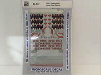 1996+ HO Microscale decals MC-4195 New York Susquehanna SD-70M Locomotives