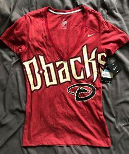 NWT Nike Arizona Diamondbacks Womens Red Short Sleeve Shirt Baseball Top MLB Med