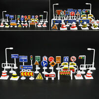 28pcs/kit TOY TRAFFIC ROAD SIGNS PLAY SETS MODEL CAR TOWN Toys For Kids