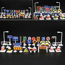 28 Stück/Set Spielzeug Verkehr Straße Zeichen Spiel Sets Modellauto Stadt
