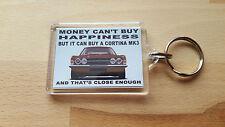 Illustration de Ford Cortina Mk3 GT GXL Art porte-clés ** brun **