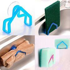 2x Plastic Sponge Holder Support Kitchen Gadget Convenient Sink Suction Cup Clip
