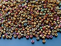 10 g Miyuki long Magatama 4x7mm perles de rocaille mat transparent saphir ab