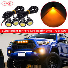 4pc Ford SVT Raptor Style LED Amber Grille Lighting Kit, Universal Fit Truck SUV