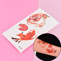 Fox Temporary Tattoo Women Body Art Animal Waterproof Sticker  105*60Mm、Cf S FE