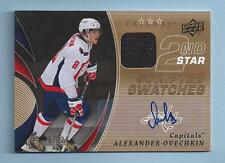 ALEXANDER OVECHKIN 2008/09 TRILOGY SCRIPTED SWATCHES GAME USED JERSEY AUTO /25
