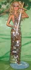 King Arthur's Lady of the Lake w/Excalibur~OOAK Barbie Doll Repaint w/Stand Base