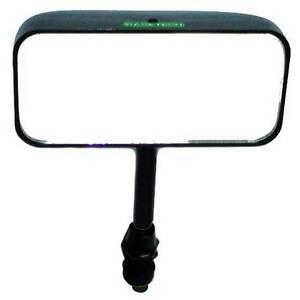 Racetech Single Seater Mirror Swivel Mounted Straight Stem Convex Glass Black