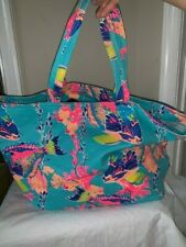 Lilly Pulitzer Toe / Beach Bag - New - Coral and Fish