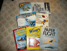 Lot of (7) Airplane Themed Books - Paper Planes, Drawing, Mobiles, History