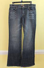 See Thru Soul Blue Denim Dino Flare Leg Jeans Stretch Cotton SZ 30  Inseam 32 A