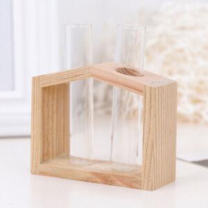 Glass Test Tube Flower Pot Hydroponic Plant Vase Terrarium Container Home Decor