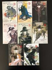 Vampire Hunter D Vol 1,2,4,5,7,13,14,17 By Hideyuki Kikuchi PB lot of 8