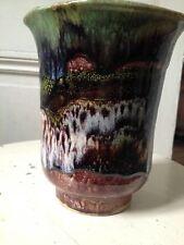Vase en faiençe fine d'Apt le Castellet a décor jaspé