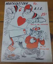 Northeastern vs AIC NU Field Football 1966 Program J69077